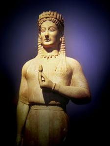 Κόρη Φρασίκλεια, 550-540 π.χ., Εθνικό Αρχαιολογικό Μουσείο
